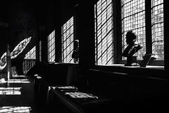 Grid Light (Duncan212) Tags: nationalportraitgallery shadows lightdark grid window bust blackandwhite blackwhite bw