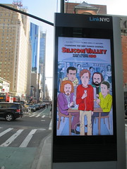 Silicon Valley Show Billboard - Daniel Clowes Cartoon Design 4190 (Brechtbug) Tags: silicon valley hbo show electronic billboard wifi cell phone repowering tower monolith mobile telephone phones springtime new york 2017 april 04092017 taxi cab sunny 46th street 8th ave near times square nyc pedestrians avenue st commuting shows billboards graphic novel artist daniel clowes illustration looks great art technology fueling station electricity power cartoon caricature cartoons