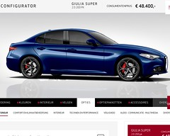 Fully loaded Giulia Super (iBSSR who loves comments on his images) Tags: alfa romeo giulia fully loaded super montecarlo blue configurator sports sedan italian design gocart milano reardrive ferrari quattroporte europe version netherlands fca performance best class feeling