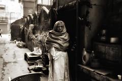 Kolkata (paola ambrosecchia) Tags: india kolkata street portrait blackandwhite bnw monochrome light woman face