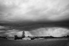 Rain storm coming in over Bauloz