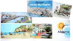 Portugal por/by Urban sketchers (guymoll) Tags: zestbooks portugal livre book urbansketchers aquarelles croquis dessins art algarve