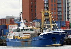 Mussel dredger Emerald Gratia (Dave Russell (700k views)) Tags: mussel dredger boat ship vessel work workboat belfast harbour harbor northern ireland water moored pier dock quay quayside wt231 emerald gratia imo 9342449 imo9342449 outdoor