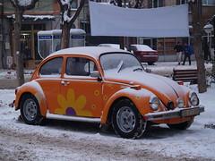 A Volkswagen Beetle, Eskişehir, Turkey (Steve Hobson) Tags: volkswagen beetle car eskişehir snow winter