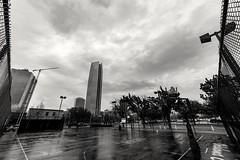 rain out (@tj_makes_it) Tags: basketball court rain okc oklahoma clouds weather blackandwhite