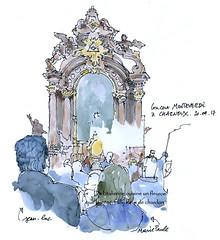 à Charneux, ce jeudi... (gerard michel) Tags: belgium concert ricercar sketch croquis aquarelle watercolour