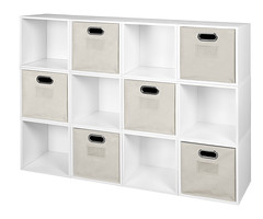 PC12PKWH_HTOTENT (RegencyOfficeFurniture) Tags: niche regency cubo cubestorage modularstorage modular connecting connectable adaptable custom customizable cube square storageset closet organizer organization furniture cubes expandable home melamine laminate woodtone white whitewoodgrain pc12pk pc1211wh beige offwhite htotent beigebins beigestorage beigetotes