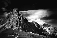 Touching The Sky (Anna Pagnacco) Tags: alps dolomites italy giau pass mountains i lagusela bw annapagnacco