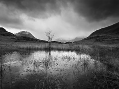 Wadale weather aproaching (alf.branch) Tags: lakes landscape lakedistrict lakesdistrict cumbria cumbrialakedistrict mono bw blackandwhite refelections reflection clouds snow olympus alfbranch olympusomdem1 zuiko z zuiko1240mmf28pro