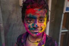 Expression speaks a lot (Rahul Ravindaran) Tags: holi chennai colours cwc captured chennaiholi kids love smile mood festival people ngc life colourful children