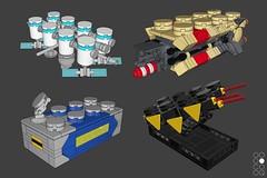Collage (Cole Blaq) Tags: blacktron brickart coleblaq enterthebrick lego legoart ncs neoclassicspace brick orbitalstation sopaceship space spacestation