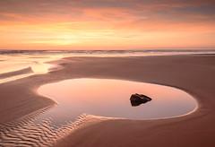 Sandymouth Bay. (b.pedlar) Tags: sand beach water tides pools sea atlantic sandymouth bay colours reflections sky rockpool seascape landscape cornwall ocean shore sunset waves patterns calm beauty