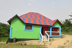 """Colorful houses in Sanniquellie. Liberia  March 2017 #itravelanddance • <a style=""""font-size:0.8em;"""" href=""""http://www.flickr.com/photos/147943715@N05/33538975361/"""" target=""""_blank"""">View on Flickr</a>"""