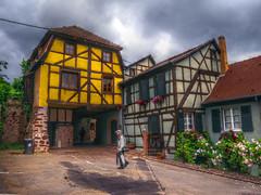 Maison à colombage de Riquewhir. Alsace (Co-jjack) Tags: riquehvir alsace maisoncolombage hautrhin hdrenfrancais hdrsingleraw