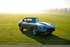 Sunrise on Type E (MANETTINO60) Tags: jaguar type e sunrise sun sunset british britishcar anglaise 60 sixties 6 cylindres hardtop cabriolet decouverte decapotable etypeserie1 etype serie1 roadster worldcar coches car apremont aumale rallye 2017 nikon d5500
