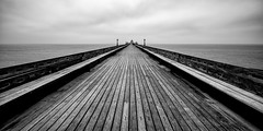 Week 13: Pier (Acero666) Tags: avon bw blackandwhite bristol clevedon england pier art bristolchannel darkart published sea water