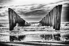 Buhne (photoartworker) Tags: beach strand buhne holland meer sand