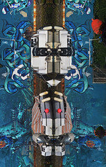 the robot (sharkoman) Tags: robot riflessi barche rimini canale