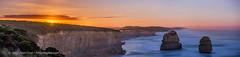 Moonrise at Twelve Apostles (Amazing Sky Photography) Tags: moonrise 12apostles twelveapostles victoria greatoceanroad nightscape australia coast twilight seacliffs panorama alberta canada