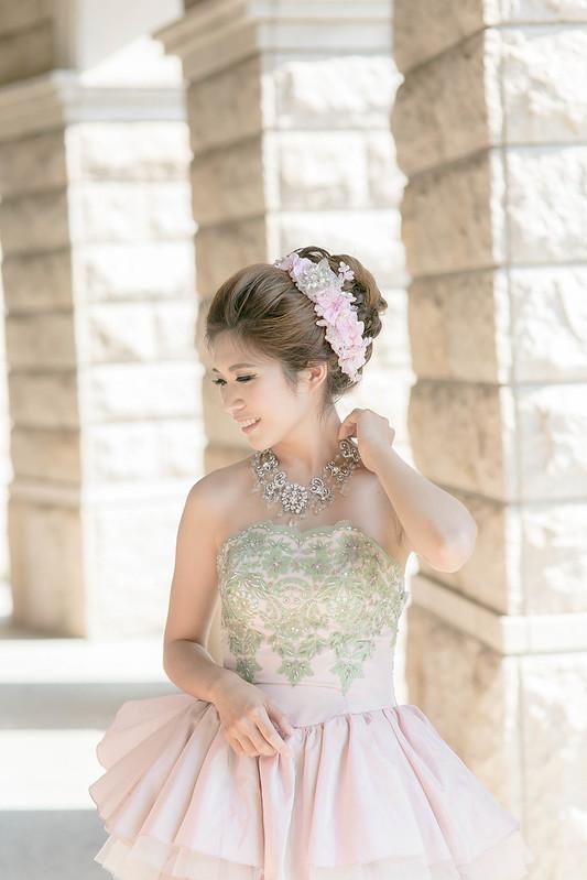嘉義新秘,歐式宮廷造型,白紗造型,自助婚紗