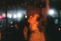 (Nothing is surrender) Tags: portrait girl woman smoke cigarett bar bless serbia srbija nikonf90 nikon f90 novisad
