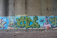 Oc (NJphotograffer) Tags: graffiti graff new jersey nj bridge oc mhs crew spongebob