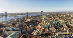 The sky over Riga (Fil.ippo) Tags: riga latvia lettonia cityscape panorama water over sky cielo clouds nuvole d610 filippo filippobianchi painting city landscape