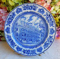 Vintage Wedgwood Yale College Connecticut Hall 1752 ~ Blue White (Donna's Collectables) Tags: vintage wedgwood yale college connecticut hall 1752 ~ blue white