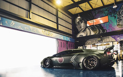 Liberty Walk. (Alex Penfold) Tags: lamborghini supercars supercar super car cars autos alex penfold 2016 japan liberty walk matte green