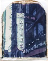 Bigelow Pharmacy, NYC March 2017 No2 (Peter William Knight) Tags: polaroid roidweek graflexsupergraphic graflex film filmwasters polaroidweek springpolaroidweek2017 669 nyc newyork filmisnotdead impossibleproject nyclpc newyorkcitylandmarkspreservationcommission landmark