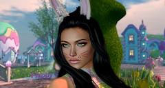Bunny Face (Joanna Vou) Tags: secondlife secondlifeavatar virtualworld joannavou avatar bunnyface bunnymakeup easter easterbunny
