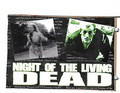 """Page Entry for """"Classic Horror Movie"""" deco... (deseriesanders) Tags: atc notld zombie"""