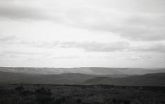 ridge (OhDark30) Tags: olympus 35rc 35 rc film 35mm monochrome blackandwhite bw bwfp longmynd stiperstones shropshire hill ridge clouds wave shadows