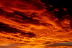 Fire in the sky (monica_maria) Tags: cloud sunset red