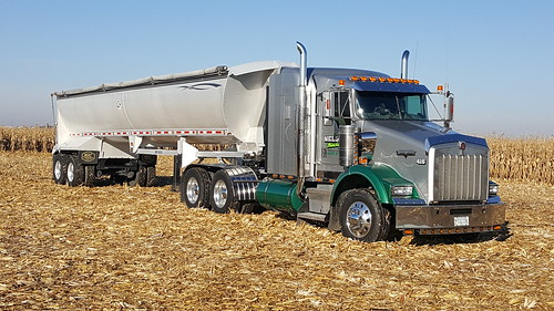Waiting to load corn.