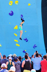 POP_8037 (Philip Osborne Photography) Tags: nationalwhitewatercenter charlotte nc tuckfest womensdeepwater rock climbers pro woman shorts sports bra athletic active ponytail falling arabellajariel deepwatersolo climbing 2017