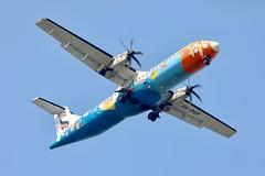 Bangkok Airways ATR72-500 HS-PGF landing BKK/VTBS (Jaws300) Tags: hspgf bangkokairways propeller prop turbo turboprop specialcolours approaching landing thailand bangkok atr72500 atr72 atr vtbs bkk airport suvarnabhumi suvarnabhumiairport