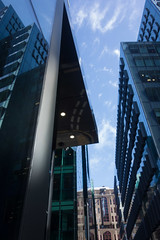 Shiny city (Spannarama) Tags: uk london heron glass buildings reflections blueskies offices moorlane ropemaker
