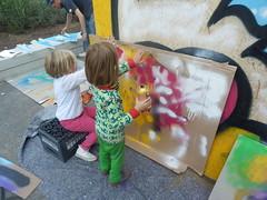 @work.. (HalloKarlo) Tags: streetart stickerart stickers hallokarlo klebos2014 streetartschoolhamburg klebosfamily2014hallokarlo2014