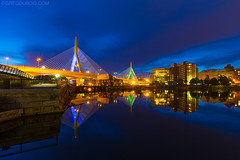 Zakim Bridge and Boston, Mirror Reflection on Charles River at Dawn - North Point Park Cambridge MA USA (Greg DuBois Photography) Tags: city longexposure nightphotography morning bridge blue cambridge sky urban usa reflection water colors yellow boston skyline night clouds canon buildings reflections river photography gold dawn lights early downtown cityscape colours unitedstates cloudy vibrant massachusetts charlesriver bridges newengland wideangle citylights bluehour westend zakim waterway citypark cityskyline waterreflection zakimbridge waterscape dawnlight urbanpark mirrorreflection cambridgemassachusetts northpointpark charlesriverlocks canon6d westendboston gregdubois gregduboisphotography northpointparkcambridge gregduboisphoto