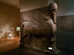 Human-headed winged bull and winged lion (lamassu), Neo-Assyrian, Ashurnasirpal II; 883–859 B.C. Mesopotamia, Nimrud (ancient Kalhu) (rowan545) Tags: mesopotamia assyria assyrian semitic