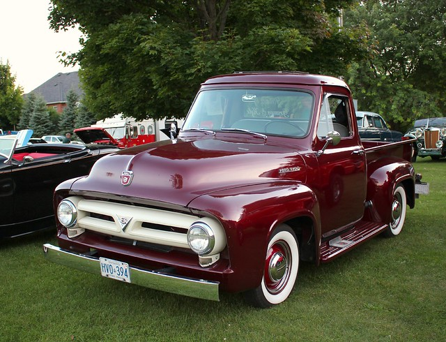 1956fordf100pickup ©richardspiegelmancarphoto uxbridgecruise2014