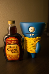 Uglyworld #2440 - Mapler Syrups - (Project On The Go - Image 270-365) (www.bazpics.com) Tags: new blue usa wool oregon project toy blog bottle maple day action handmade or crochet steps vinyl knit daily creme september website figure mission jumper syrup 365 adventures custom uglydoll total success hillsboro 27th wedgie uglydolls 2014 micheles successful wedgehead uglyworld prettyugly barryoneilphotography adventuresinuglyworld uglyadventures