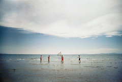 , (Benedetta Falugi) Tags: blue sea summer film beach boys water play volleyball analogue volley 135mm 22mm shootingfilm istillshootfilm benedettafalugi ibeliveinfilm
