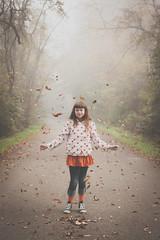 Autumn (Kilkennycat) Tags: road autumn portrait fall girl fog canon children child 500d kilkennycat 40mm28 t1i ryanconners