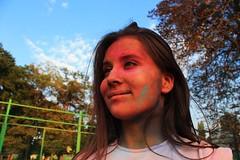 Elitsa (Doni Filipov) Tags: blue portrait sky people woman nature colors girl beautiful smile face festival clouds canon lens photography eyes colours teenager heli