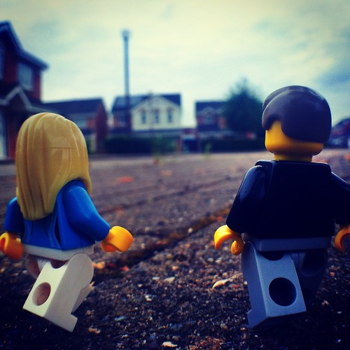 Heading Home Bekah & Lego Man head homewards after an evening walk in the park. #lego #legoman #legography #awalkinthepark