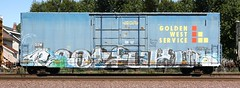 Eatfuk (quiet-silence) Tags: railroad art train graffiti flat railcar boxcar graff 42 freight goldenwest fr8 ssw eatfuk zew ssw24352