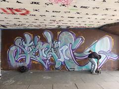 Sterling graffiti, Southbank (duncan) Tags: graffiti southbank sterling