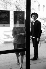 Untitled (ajkpix) Tags: california street people urban blackandwhite blackwhite losangeles blackwhitephotos scattidistrada